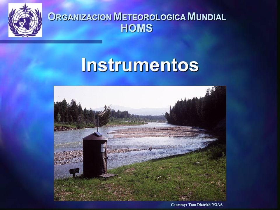 O RGANIZACION M ETEOROLOGICA M UNDIAL HOMS Instrumentos Courtesy: Tom Dietrich-NOAA