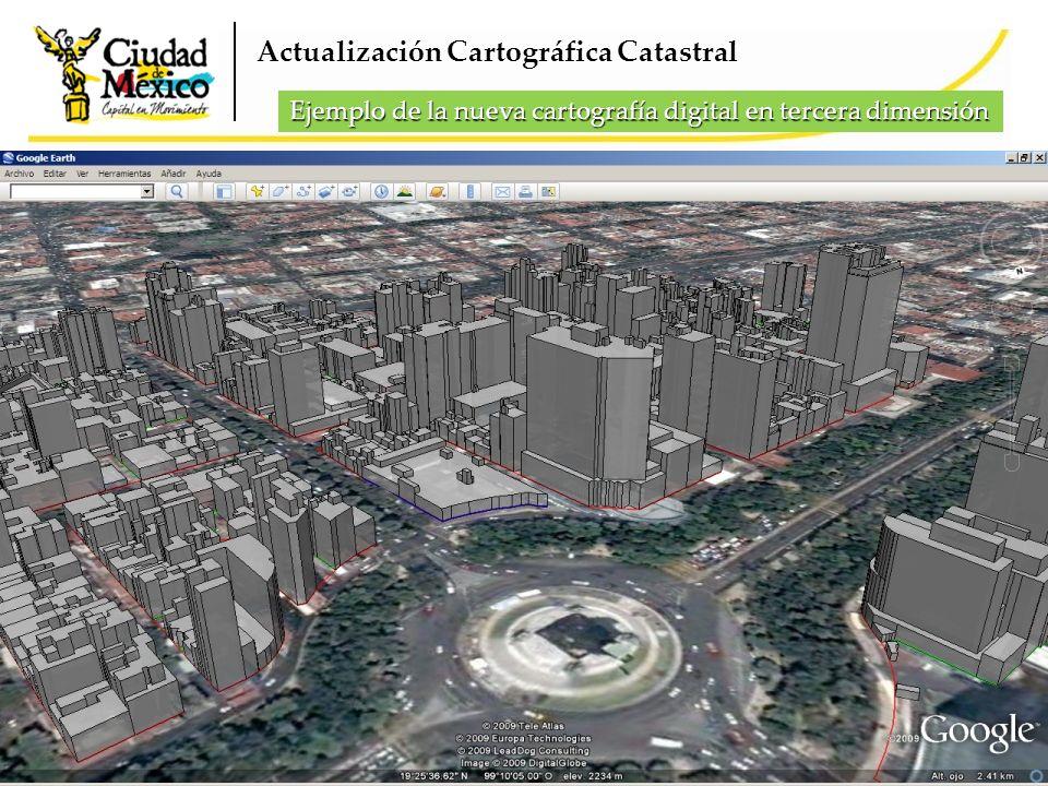 Actualización Cartográfica Catastral Ejemplo de la nueva cartografía digital en tercera dimensión