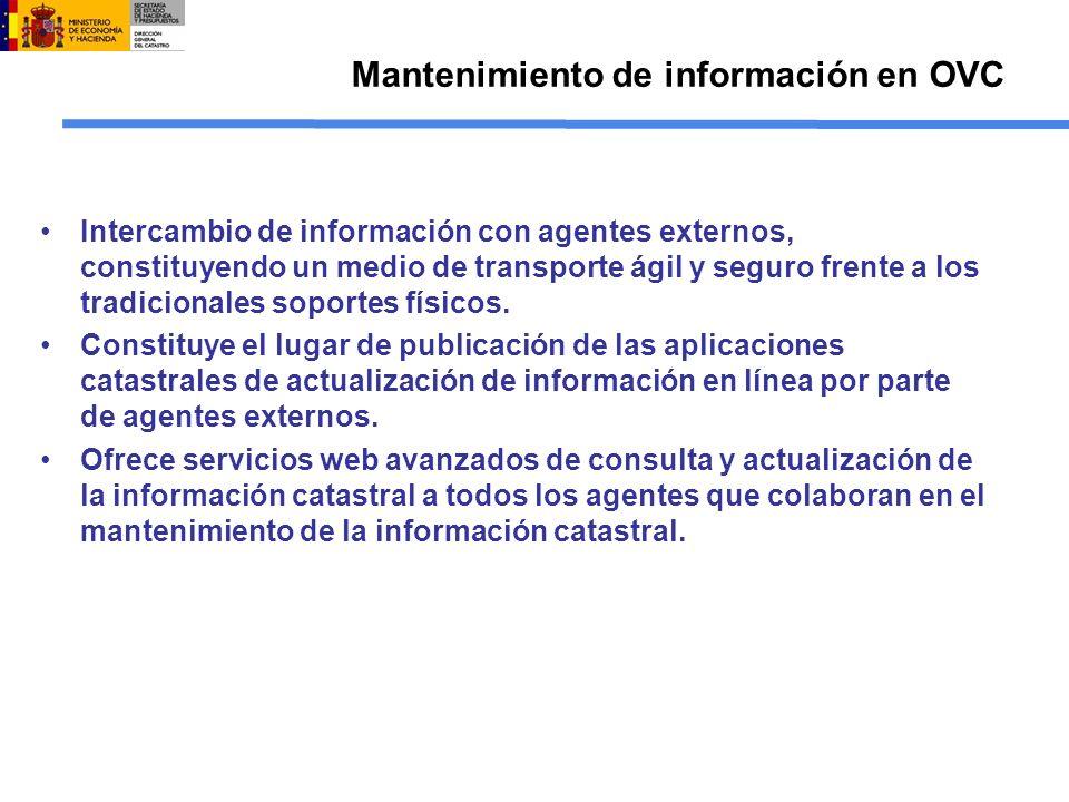 Mantenimiento de información en OVC Intercambio de información con agentes externos, constituyendo un medio de transporte ágil y seguro frente a los t