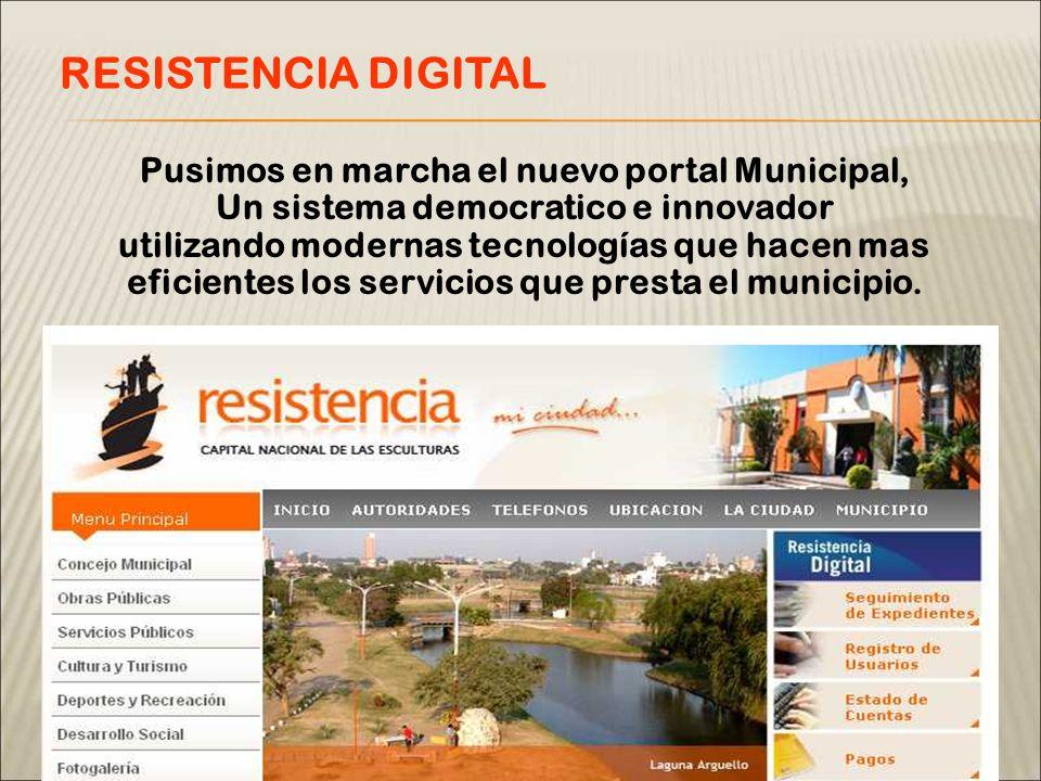 Pusimos en marcha el nuevo portal Municipal, Un sistema democratico e innovador utilizando modernas tecnologías que hacen mas eficientes los servicios que presta el municipio.