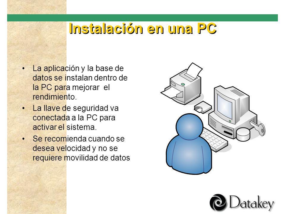 Modalidades de uso Instalación en una PC Instalación en una memoria USB Instalación en red Acceso por Internet personal Acceso por Internet de varios