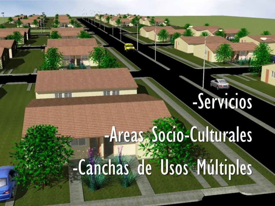 -Servicios -Areas Socio-Culturales -Canchas de Usos Múltiples