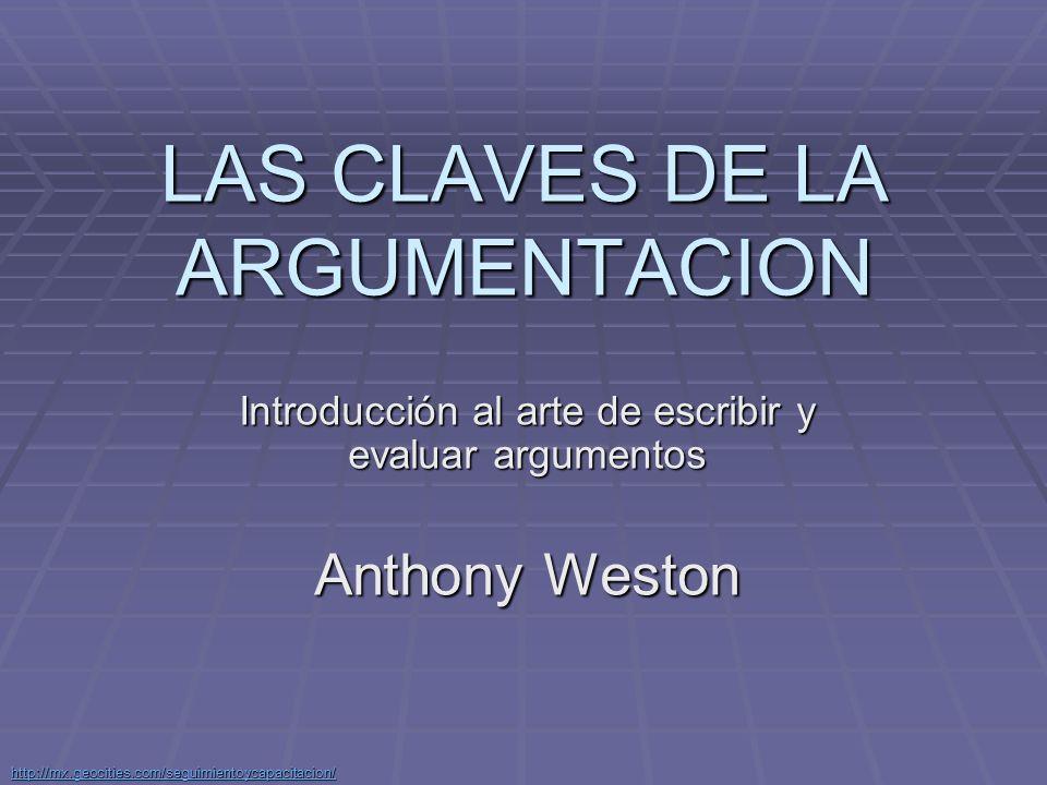 http://mx.geocities.com/seguimientoycapacitacion/ ¿Qué es argumentar.
