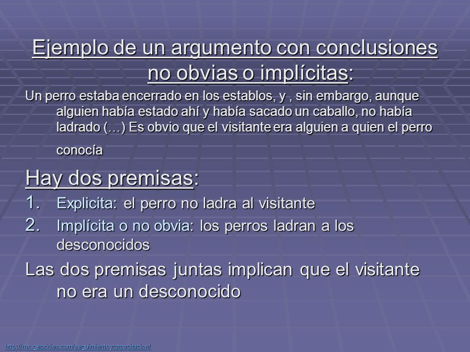http://mx.geocities.com/seguimientoycapacitacion/ Revisar y considerar los argumentos tal como aparecen.