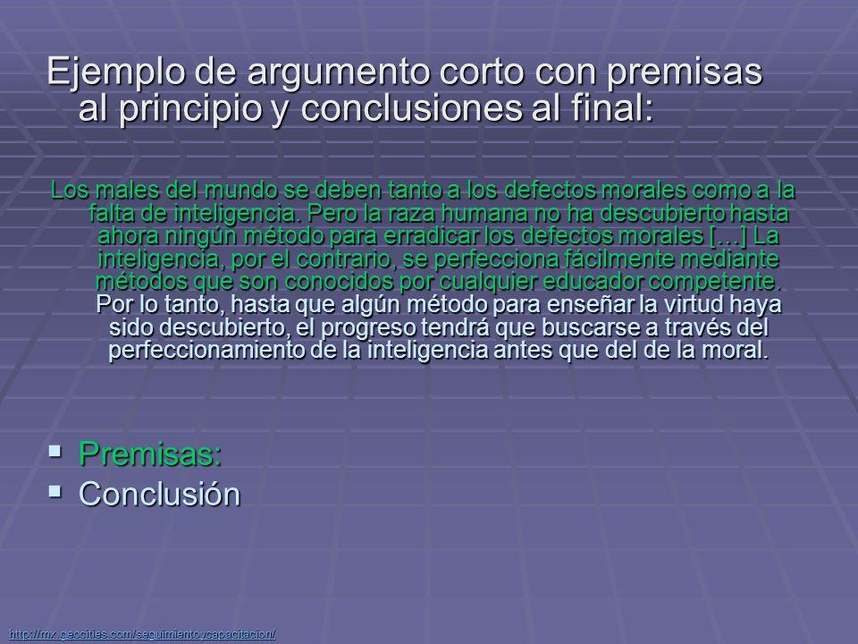 http://mx.geocities.com/seguimientoycapacitacion/ Deducción de Holmes en premisas: Deducción de Holmes en premisas: 1.