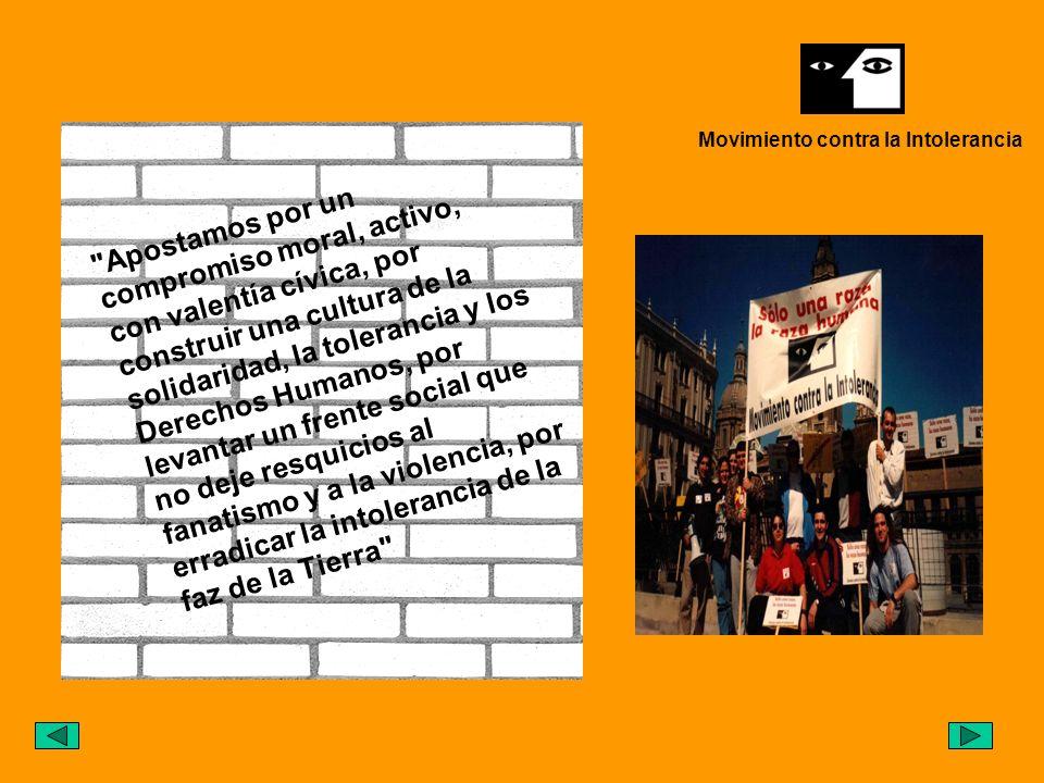 MCI es un movimiento plural, autónomo, abierto y participativo que trabaja contra la intolerancia, el racismo y la violencia.