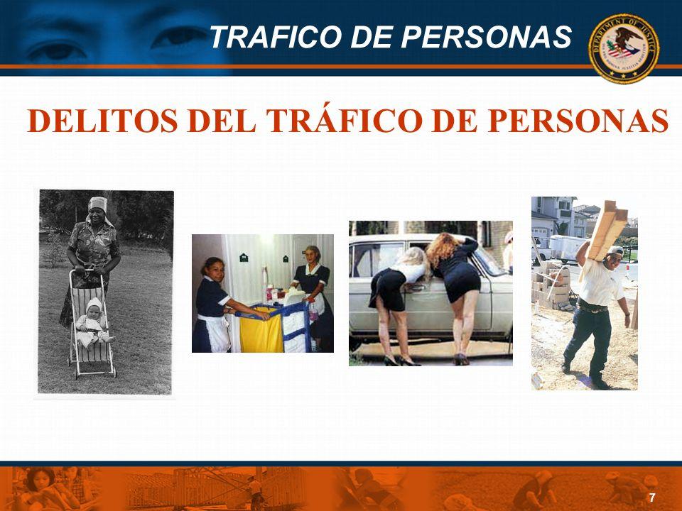 TRAFICO DE PERSONAS 7 DELITOS DEL TRÁFICO DE PERSONAS