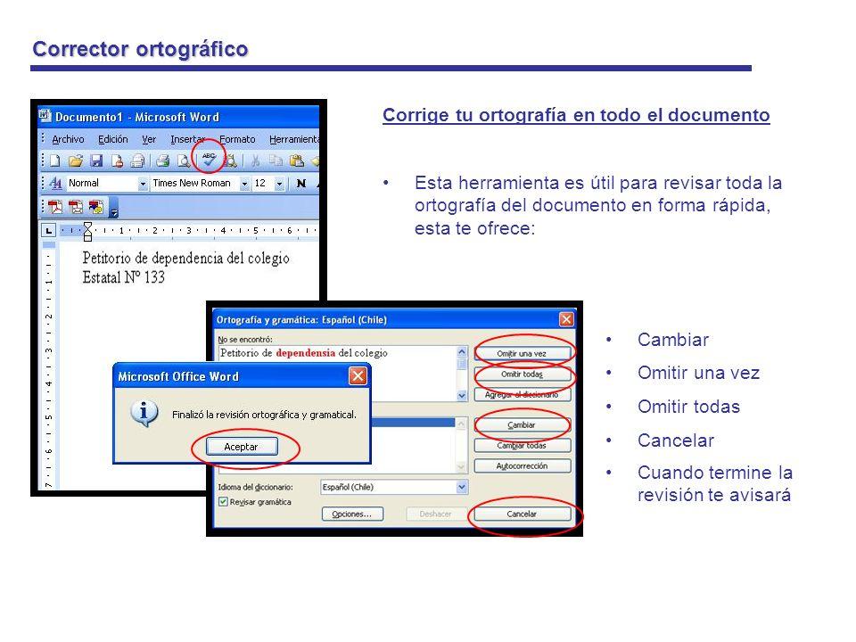 Guardar cambios en tu documento Guardar cambios Esta opción sirve para guardar todas las modificaciones que le haz hecho al texto desde la primera vez que lo guardaste.