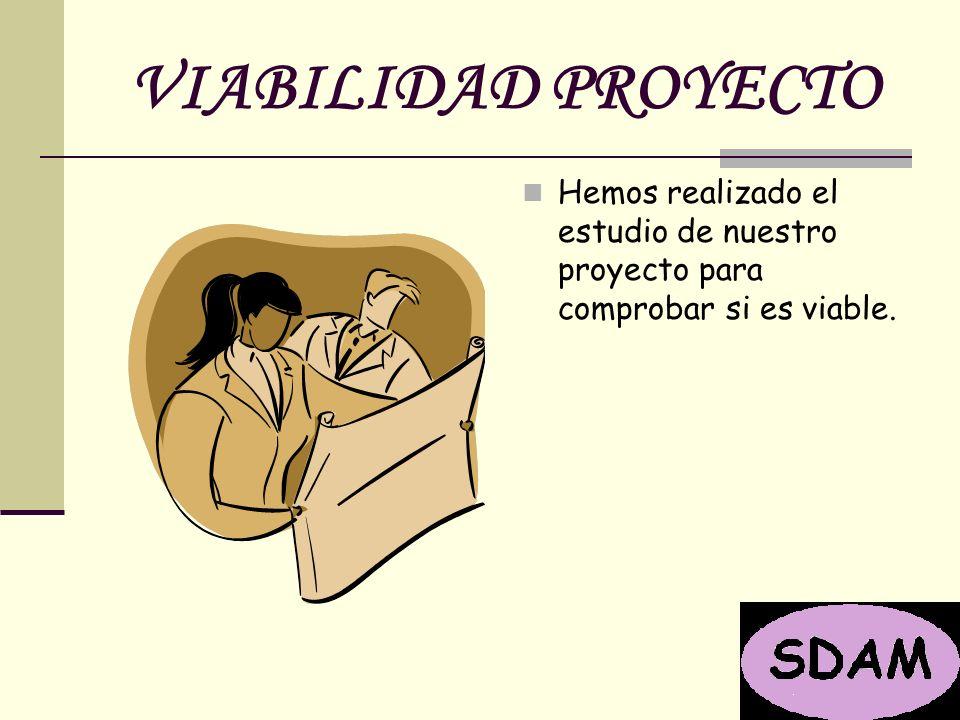 VIABILIDAD PROYECTO Hemos realizado el estudio de nuestro proyecto para comprobar si es viable.