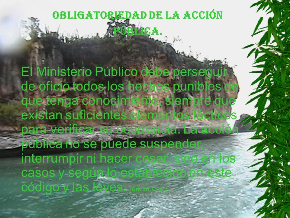 Obligatoriedad de la acción pública.