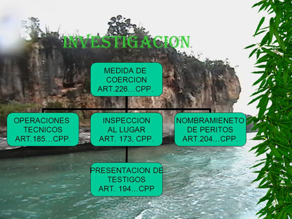 INVESTIGACION MEDIDA DE COERCION ART.226…CPP. OPERACIONES TECNICOS ART.185…CPP.