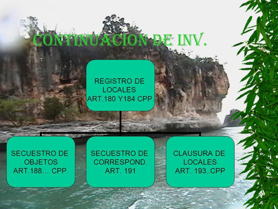 CONTINUACION DE INV. REGISTRO DE LOCALES ART.180 Y184 CPP.