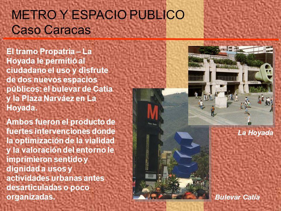 El tramo Propatria – La Hoyada le permitió al ciudadano el uso y disfrute de dos nuevos espacios públicos: el bulevar de Catia y la Plaza Narváez en L