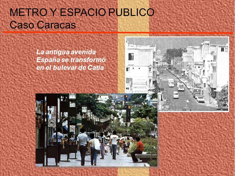 METRO Y ESPACIO PUBLICO Caso Caracas La antigua avenida España se transformó en el bulevar de Catia