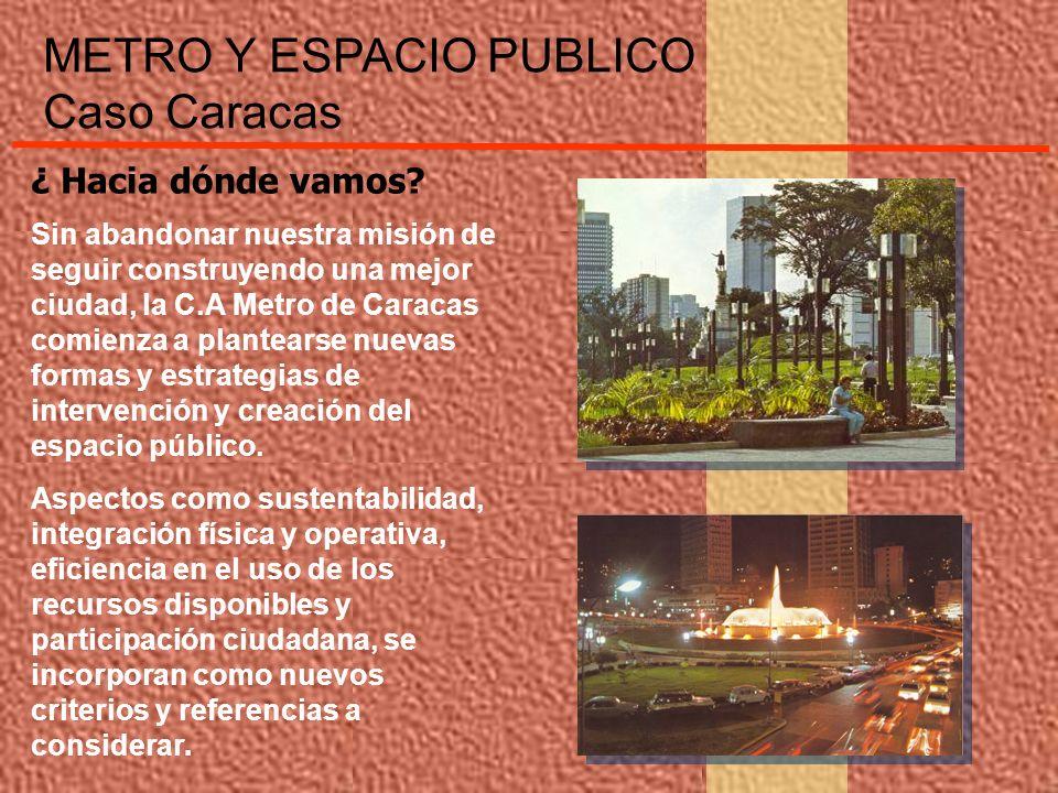 ¿ Hacia dónde vamos? Sin abandonar nuestra misión de seguir construyendo una mejor ciudad, la C.A Metro de Caracas comienza a plantearse nuevas formas
