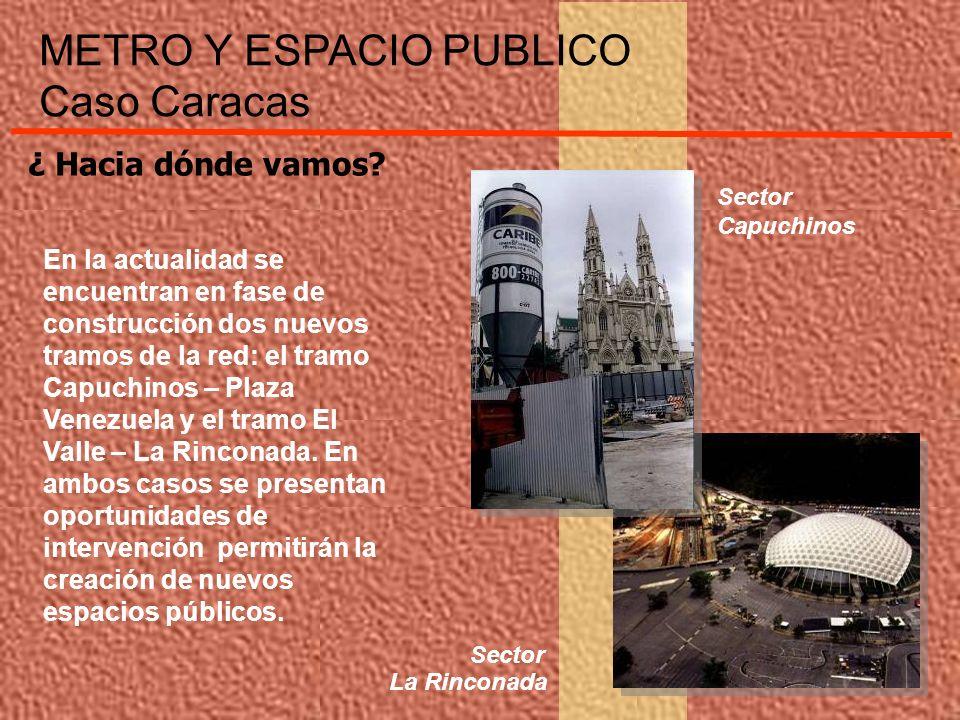 ¿ Hacia dónde vamos? En la actualidad se encuentran en fase de construcción dos nuevos tramos de la red: el tramo Capuchinos – Plaza Venezuela y el tr