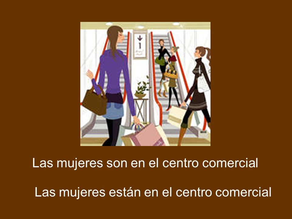 Las mujeres son en el centro comercial Las mujeres están en el centro comercial