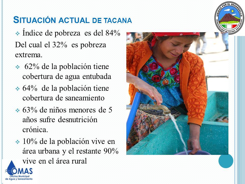 OBJETIVO GENERAL DE OMAS Contribuir a establecer una modalidad de servicio descentralizado de acceso sostenible a agua potable y saneamiento que permita mejorar la salud y calidad de vida de la población urbana y rural, para alcanzar el derecho al agua.