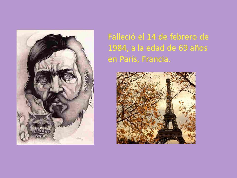Falleció el 14 de febrero de 1984, a la edad de 69 años en París, Francia.