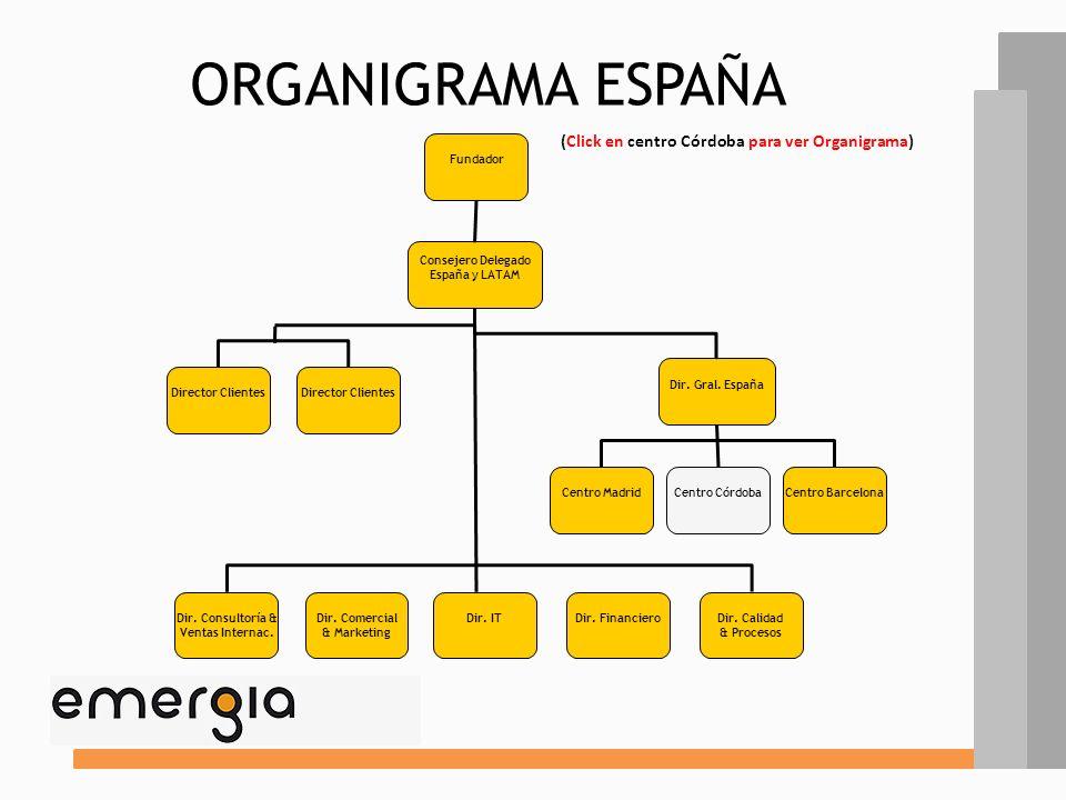 ELemENTOS ESTRUCTURALES FACTORES DE CONTINGENCIA CONFIGURACIÓN ORGANIZATIVA ANÁLISIS DESCRIPTIVO ELEMENTOS ESTRUCTURALES 1.- Organigrama España 2.- Or