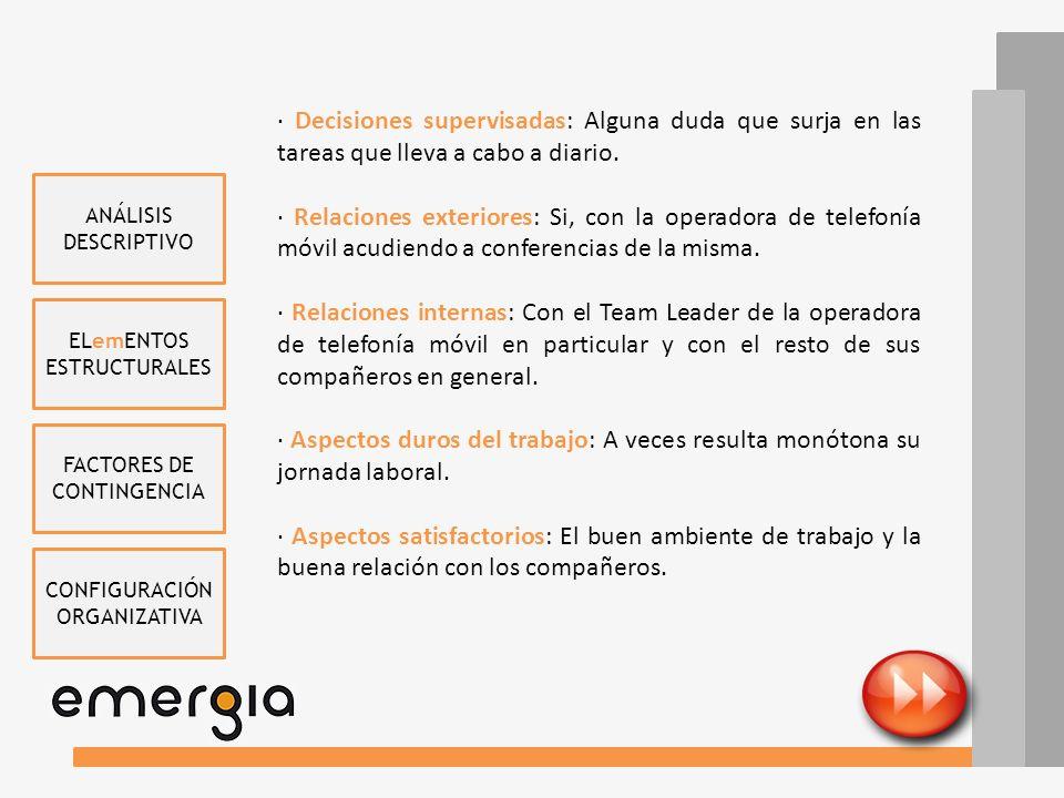 ELemENTOS ESTRUCTURALES FACTORES DE CONTINGENCIA CONFIGURACIÓN ORGANIZATIVA ANÁLISIS DESCRIPTIVO ASESOR CONTABLE (AUDITOR) (Juan José Márquez) · Misió