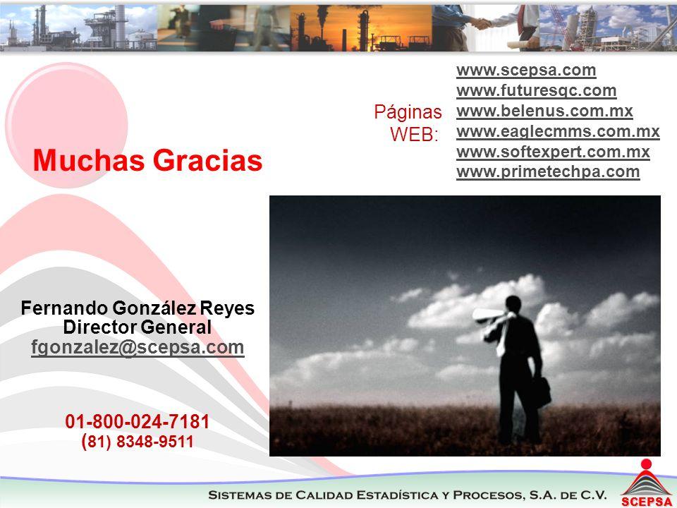SCEPSA Muchas Gracias Fernando González Reyes Director General fgonzalez@scepsa.com 01-800-024-7181 ( 81) 8348-9511 fgonzalez@scepsa.com www.scepsa.co