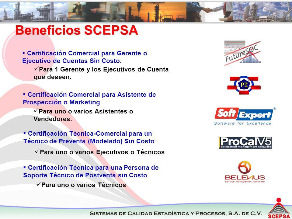 SCEPSA Para 1 Gerente y los Ejecutivos de Cuenta que deseen. Certificación Comercial para Gerente o Ejecutivo de Cuentas Sin Costo. Certificación Come