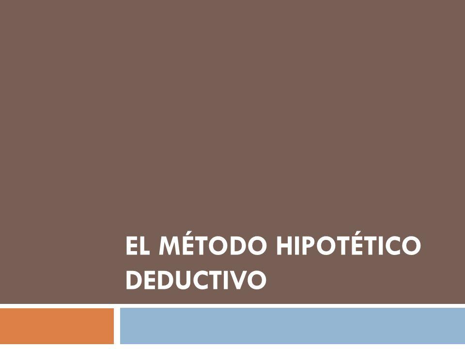 EL MÉTODO HIPOTÉTICO DEDUCTIVO