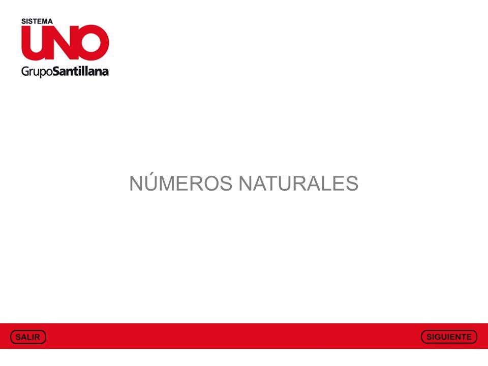 CONCEPTO DE NÚMERO NATURAL Los números naturales son aquellos que sirven para contar los elementos de un conjunto.