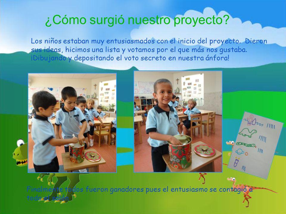 Los niños estaban muy entusiasmados con el inicio del proyecto. Dieron sus ideas, hicimos una lista y votamos por el que más nos gustaba. ¡Dibujando y
