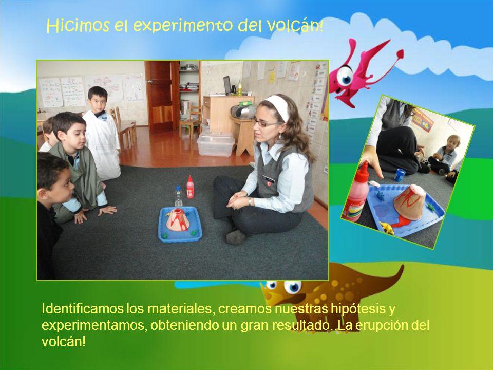 Hicimos el experimento del volcán! Identificamos los materiales, creamos nuestras hipótesis y experimentamos, obteniendo un gran resultado..La erupció