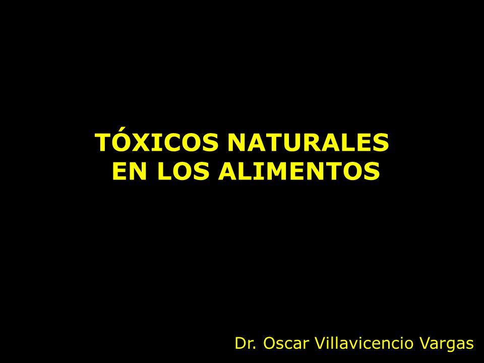 TÓXICOS NATURALES EN LOS ALIMENTOS Dr. Oscar Villavicencio Vargas