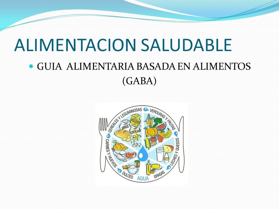 ALIMENTACION SALUDABLE GUIA ALIMENTARIA BASADA EN ALIMENTOS (GABA)
