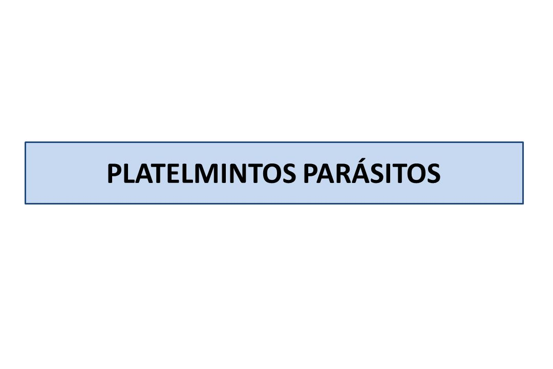 PLATELMINTOS PARÁSITOS