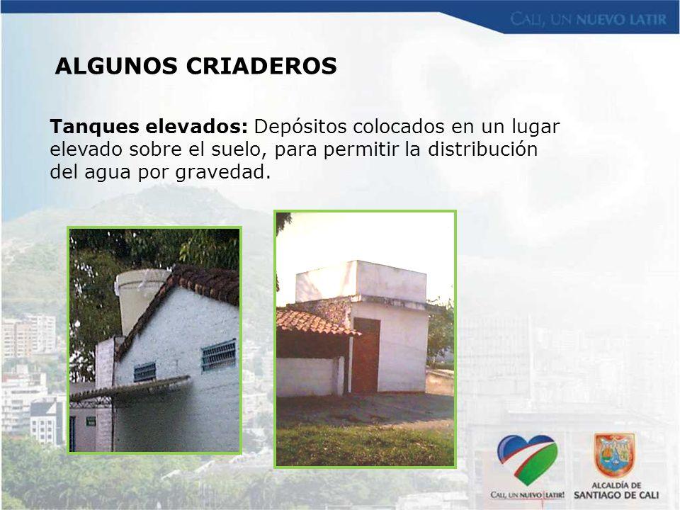Tanques elevados: Depósitos colocados en un lugar elevado sobre el suelo, para permitir la distribución del agua por gravedad.