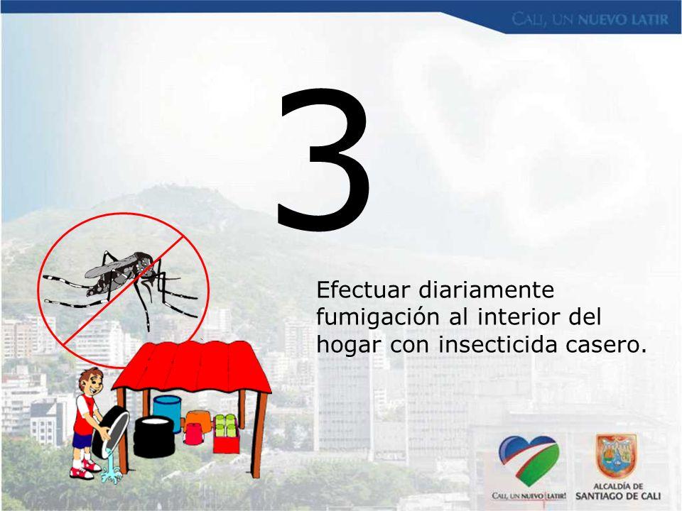 3 Efectuar diariamente fumigación al interior del hogar con insecticida casero.