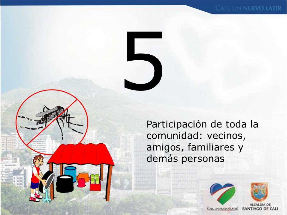 5 Participación de toda la comunidad: vecinos, amigos, familiares y demás personas