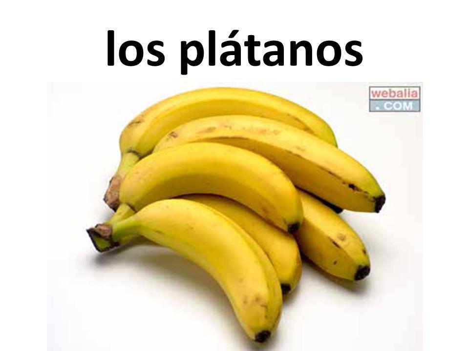 los plátanos