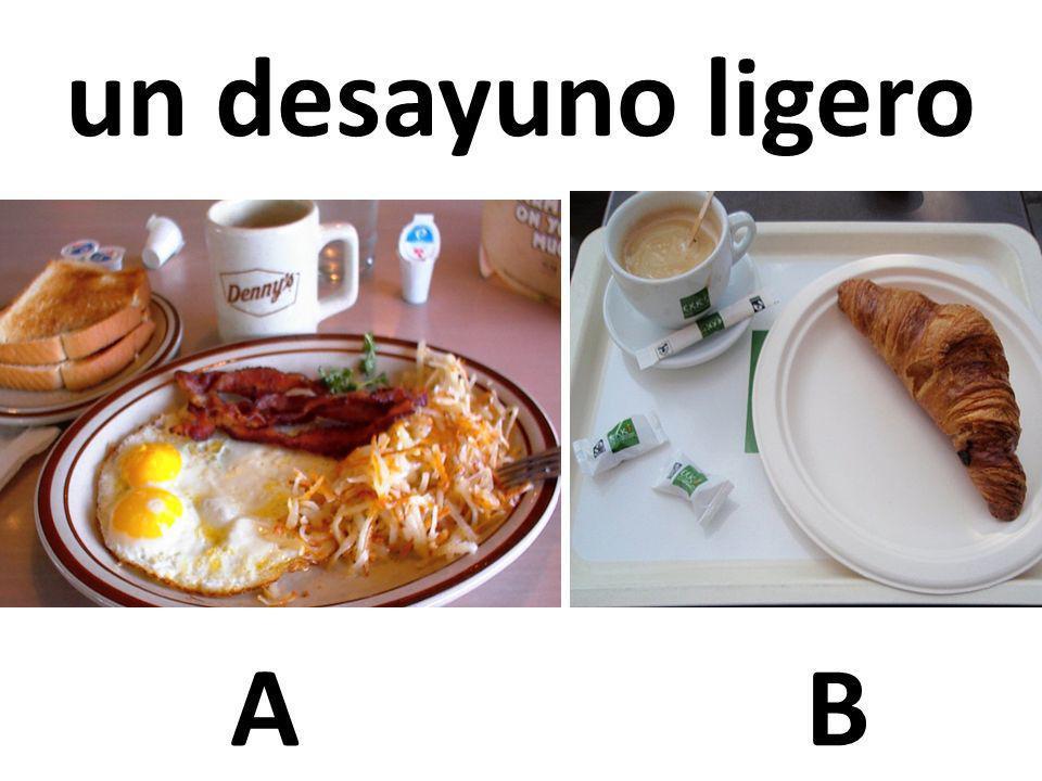 AB un desayuno ligero