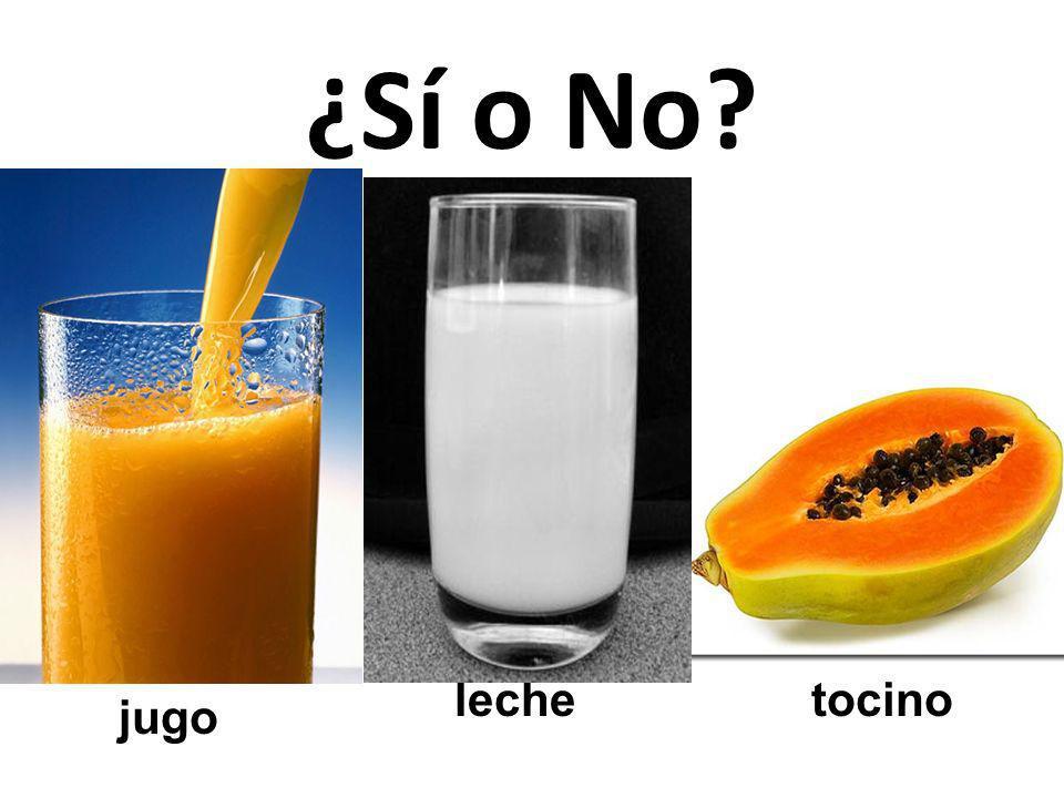 tocino leche jugo ¿Sí o No?