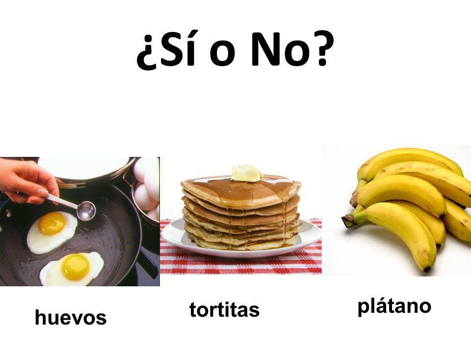 plátano tortitas huevos ¿Sí o No?