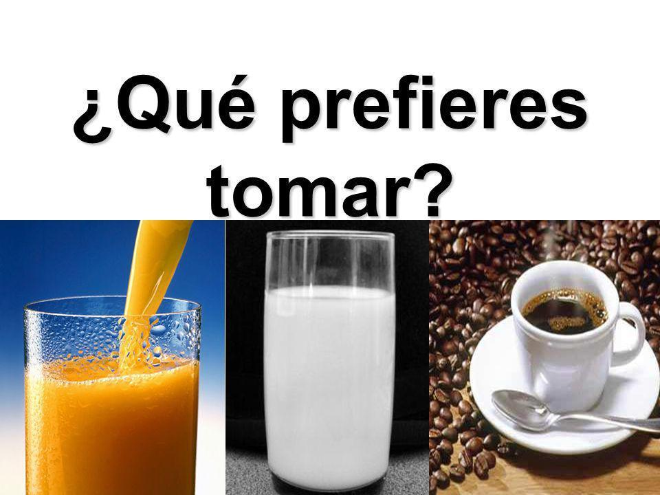 ¿Qué prefieres tomar?