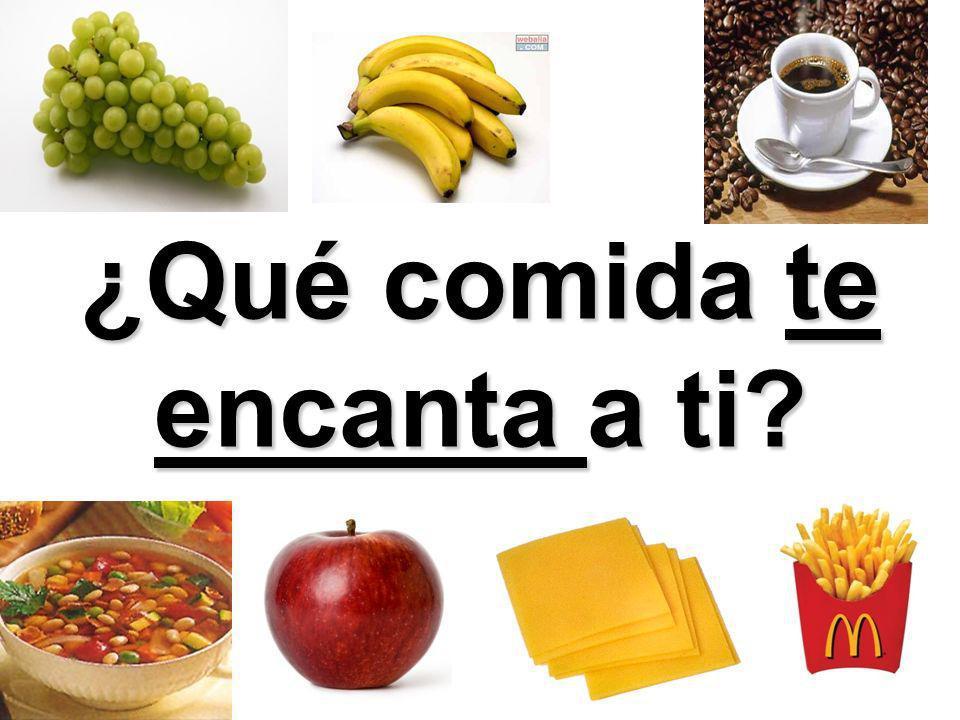 ¿Qué comida te encanta a ti?