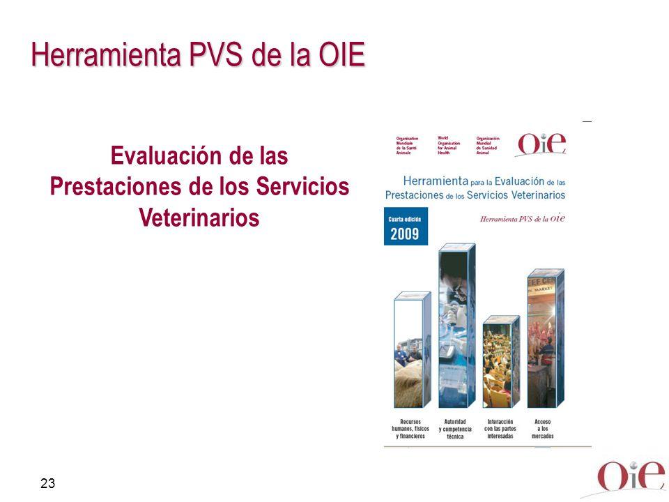 23 Herramienta PVS de la OIE Evaluación de las Prestaciones de los Servicios Veterinarios