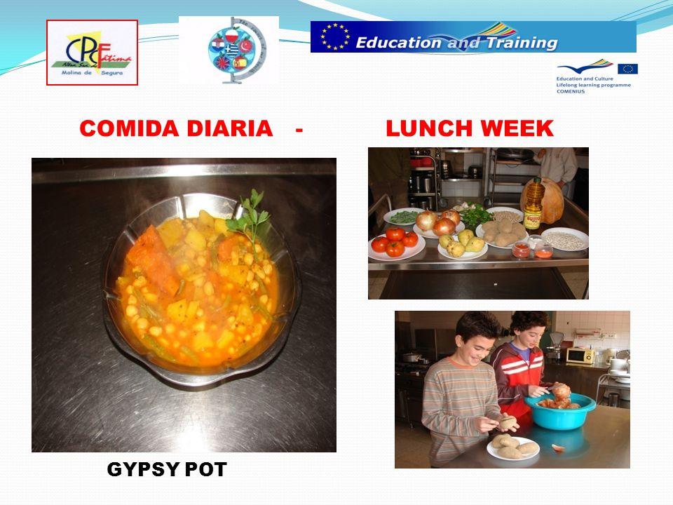 COMIDA DIARIA - LUNCH WEEK GYPSY POT
