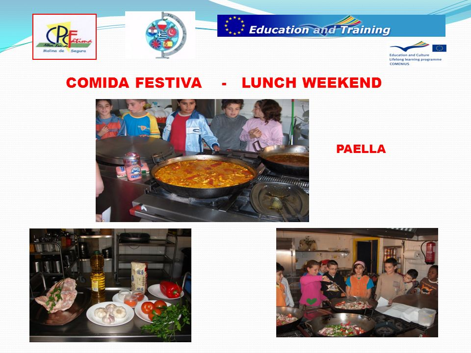 COMIDA FESTIVA - LUNCH WEEKEND PAELLA