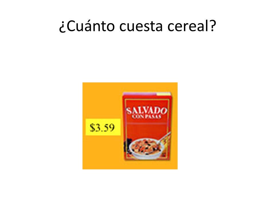 ¿Cuánto cuesta cereal?