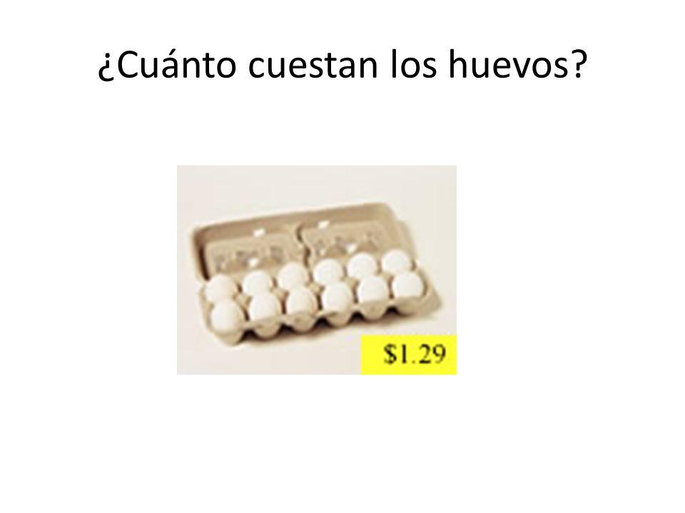 ¿Cuánto cuestan los huevos?