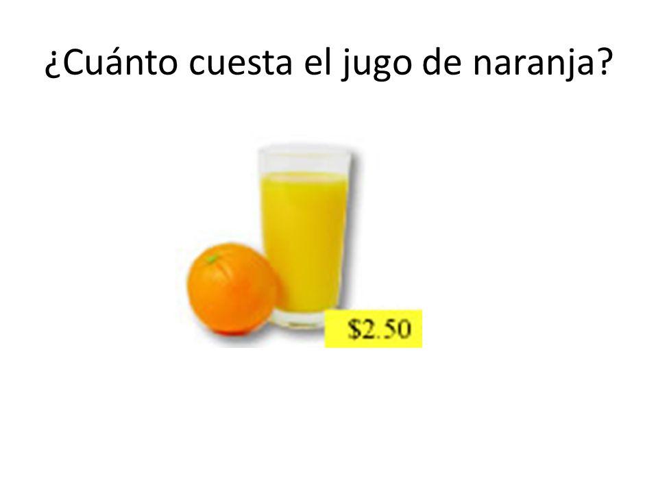 ¿Cuánto cuesta el jugo de naranja?