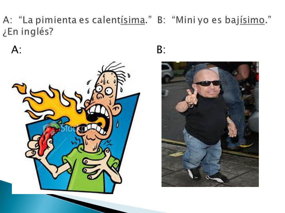 A: B: